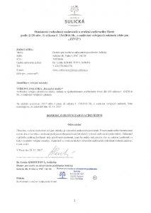 Icon of Recepční služby  - oznámení rozhodnutí zadavatele o zrušení zadávacího řízení