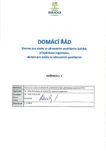 Icon of Domácí řád DOZP Sulická od 1.11.2019