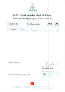 Icon of Sazebnik fakultativnich sluzeb CHRÁNĚNÉ BYDLENÍ od 1.4.2019